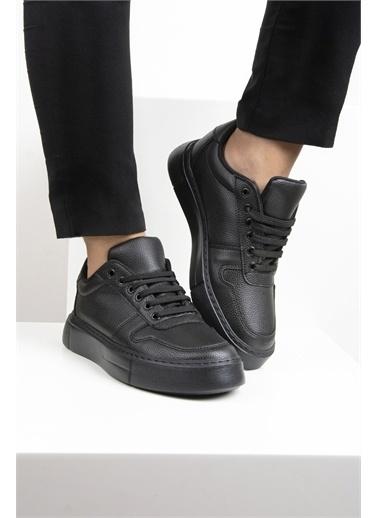 OKHU SHOES Kadın Süet Bağcıklı Günlük Sneaker Spor Ayakkabı Siyah